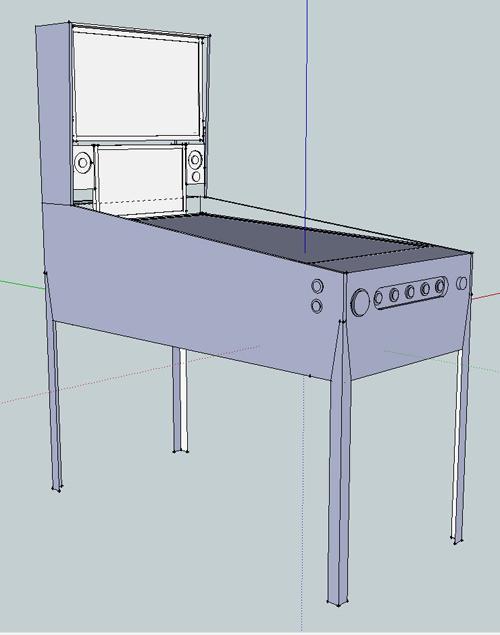 dimensions of a pinball machine