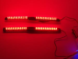 Led brake lights the following picture shows the bare modified led light bar in the center the plexi glass that i cut sanded and glued together on the left with the light mozeypictures Choice Image